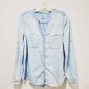 Anthropologie Holding Horses Denim Blouse